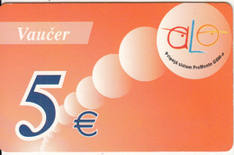 MONTENEGRO - Alo By Pro Monte Prepaid Card 5 DEM, Exp.date 17/01/04, Used - Montenegro