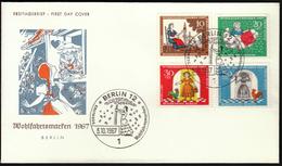 Germany Berlin 1967 / Frau Holle, Fairy Tales / Wohlfahrtsmarken / Welfare Stamp