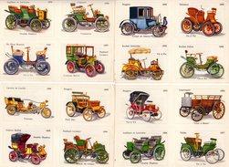 6 Planches Photos Soit 24 Modèles D'Autos De 1890 à 1900 Avec Au Dos, Caractéristiques Mécaniques, Prix & Vitesse - Cars