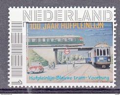 Train, Trein, Locomotive Nederland Persoonlijke Zegel : Hofpleinlijn Met Trein, Tram , Bike,  VW Kever