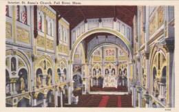 Massachusetts Fall River Interior St Ann's Church