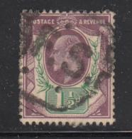 Great Britain Used #129 1 1/2p Edward VII Cancel: FS - 1902-1951 (Rois)