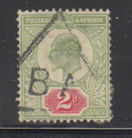Great Britain Used #130 2p Edward VII Cancel: Telegraph