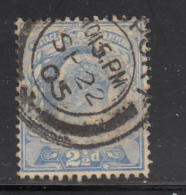 Great Britain Used #131 2 1/2p Edward VII Dated: SP 22 05
