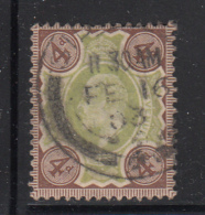 Great Britain Used #133 4p Edward VII Dated: FE 16 03