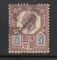 Great Britain Used #134 5p Edward VII