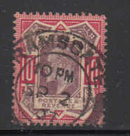 Great Britain Used #137 10p Edward VII Variety: Cross Touching Triangle