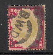 Great Britain Used #138 1sh Edward VII Cancel: S.W.D.O.