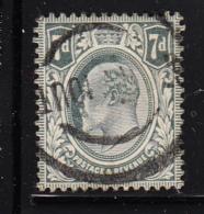 Great Britain Used #145 7p Edward VII - 1902-1951 (Rois)