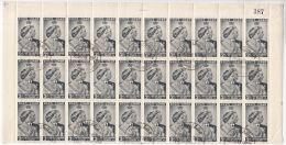 Solomon Islands: RSW 2d Marginal Block Of 30, With Pocket Flaw, 27 May 1949 - British Solomon Islands (...-1978)
