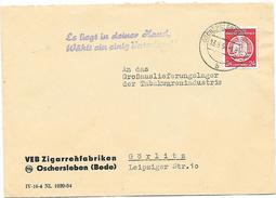 DDR Brief Dienst EF VEB Zigarettenfabriken Oschersleben + Propaganda Wählt Einig Vaterland (46)