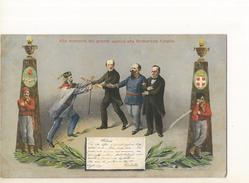 CPA, Italie,N° 15142, Alla Memoria Dei Grandi Uomini Che Formarono L' Italia , Ed. H. G. - Italia