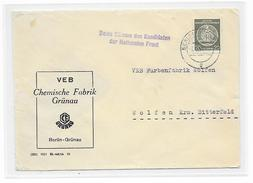 DDR Brief Dienst EF VEB Chemische Fabrik Berlin Grünau + Propaganda Nationale Front (47)