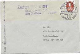 DDR Brief EF Mi.576 M. SSt Lunzenau 10.6.57 + Propaganda Nationale Front (48)