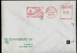 729-CZECHOSLOVAKIA (ČSR) Brief-letter Olympia Museum Briefmarkenausstellung-Stamp Exhibition OLYMPSPORT 1991