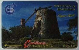 ANTIGUA & BARBUDA - GPT - $10 - 4CATA - Sugar Mill - ANT-4A - 1992 - Used