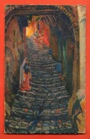IAN-32  -Alger Rue Du Diable, Casba Alger De L. Barbichon. Cachet 1932 - Alger
