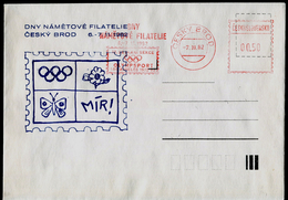 731-CZECHOSLOVAKIA (ČSR) Brief-letter Olympia  Day Thematic Philately-Olymp Sports Section Of Los Angeles 1932-82