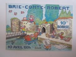 77 Seine Et Marne Brie Comte Robert Illustrateur Dessin De Barberousse De Neuilly  10 Bourse Chat - Brie Comte Robert