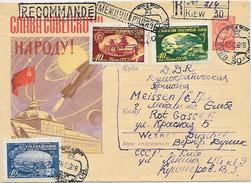 Propaganda GA Russland 40Kop + Zuf. Reco Brief Kiew 1959 N. DDR Meissen (52)