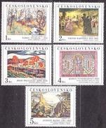 CZECHOSLOVAKIA 1984, Complete Set, MNH. Michel 2789-2793. PAINTING - STEHLIK, BARVITIUS, PALUGYAY, VYSEHRADSKY, MANES.