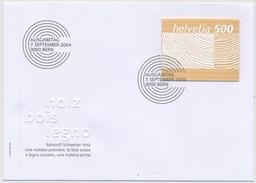 1133 Illustriertes FDC - Holzmarke - 500 Rp. Rohstoff Schweizer Holz