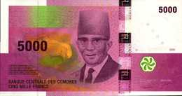 COMORES 5000 FRANCS De 2006  Pick 18  UNC/NEUF - Comoros