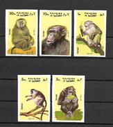 Fujeira 1972 Animals - Monkeys Imperforate MNH (R0127)