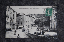 CLERMONT L'HERAULT - Place De La Mairie, Le Marché. - Clermont L'Hérault