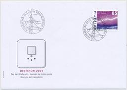 1139  Sondermarke Tag Der Briefmarke 2004 In Dietikon - Illustriertes Ofizielles FDC