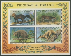 Trinidad Und Tobago 1978 Naturschutz Tiere Ozelot Block 25 Postfrisch (C12183)