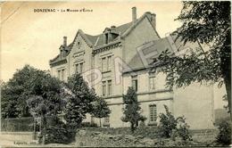 Donzenac (19) - La Maison D'École (Circulé En 1917) - Frankreich
