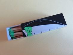 Boîte D´allumettes - Ici Votre Message - Noeud Papillon Vert - Matchbox Labels