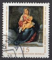 """1781 Germania Democratica 1976 """"Madonna Col Bambino"""" Quadro Dipinto Da BE Murillo Paintings DDR"""