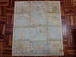 FASCISMO CARTA FERROVIARIA D'ITALIA E D'EUROPA - Ferrovie