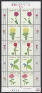 Q436.-. JAPAN.-. 2013. SHEET- SEASONAL FLOWERS SERIES No. 7- ROSES / ROSAS