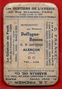 Rare Petit Miroir Publicitaire Avec 5 Annonces Au Revers ** 61 ALENCON Orne & 75 PARIS - Unclassified