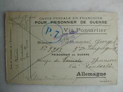 MILITARIA - Carte Postale En Franchise Pour Prisonnier De Guerre