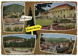 ALLEMAGNE : BADEN-BADEN / POSTMARK SLOGAN - MANNHEIM NATIONALTHEATER 1963