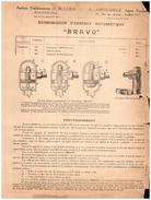 Publicité Ancienne Concernant La Mécanique)  économiseur D'Essence Bravo - Publicités