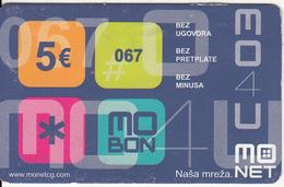 MONTENEGRO - Mo Net Prepaid Card 5 Euro, Exp.date 31/12/03, Used