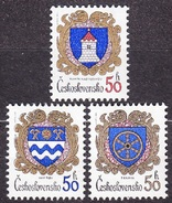 CZECHOSLOVAKIA 1985, Complete Set, MNH. Michel 2797-2799. CITIES - COAT OF ARMS. Good Condition, See The Scans.