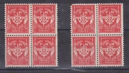 France: 8 Timbres Neufs De Franchise Militaire 1946/58 - Franchise Militaire (timbres)
