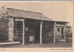 Cpa  2 Scans - Abraham Lincoln's Indiana Home Maison D'enfance D'abraham Lincoln President Américain Né En 1809 Kentuky - Etats-Unis