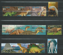 St. Kitts 2005 Prehistoric Animals.fauna.stamps And Block Stamps.MNH - St.Kitts And Nevis ( 1983-...)