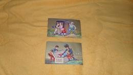 LOT DE 2 CHROMOS ANCIENS DATE ?. / UN PORTE CIGARES A SUPRISE, CIGARES 1ER CHOIX. - Cigarette Cards