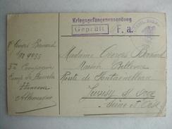 MILITARIA - Kriegsgefangenensendung - War 1914-18