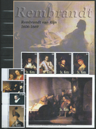 ST. KITTS - 2003 Rembrandt Commemoration.famous People.painting.Art.2 S/S And Stamps.MNH.