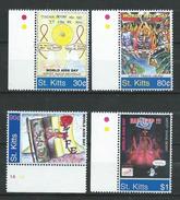 ST. KITTS 2004 World AIDS Day.MNH. - St.Kitts-et-Nevis ( 1983-...)