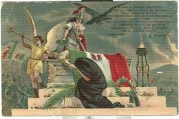 """""""GLORIA  A CESARE BATTISTI"""" , LUGLIO 1916, VERSI DI C.A. BLENDINI, CARTOLINA COLORI VIAGGIATA 1920, - 1914-18"""